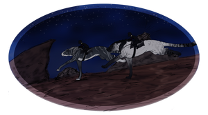 Moon and Syrah Skunk Race by Utakame