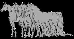 Horse Lineart Pack - Retired by Utakame