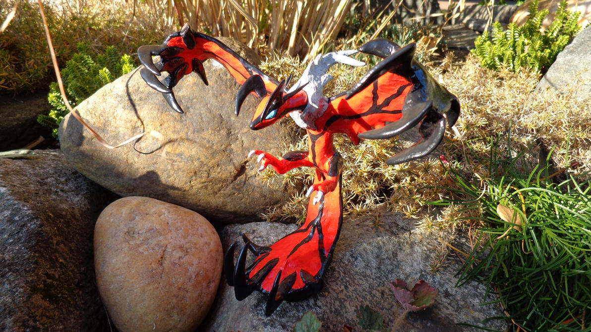 Yveltal Sculpture by RedDragonTyr