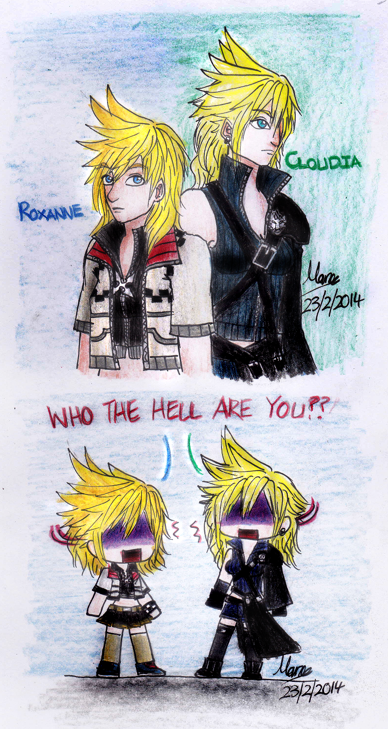 Fem Roxas And Fem Cloud First Time Meeting By Marieyeohkh24
