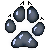 Wolf Pawprint by TheCakeIsAWolf