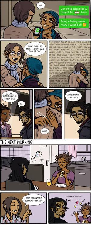 Subway shenanigans page 5 (END) - practice comic