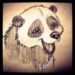 Happy Panda by fuzzypinkmonster