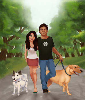 Commish: A Walk with the one I love