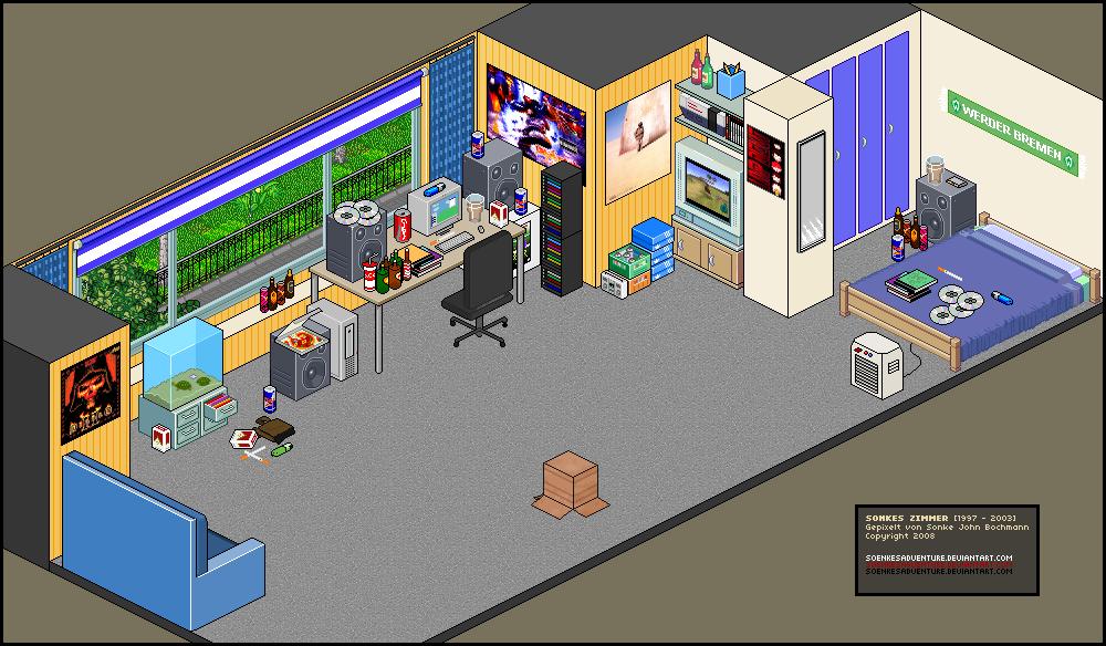 pixel art my old living room by soenkesadventure on deviantart