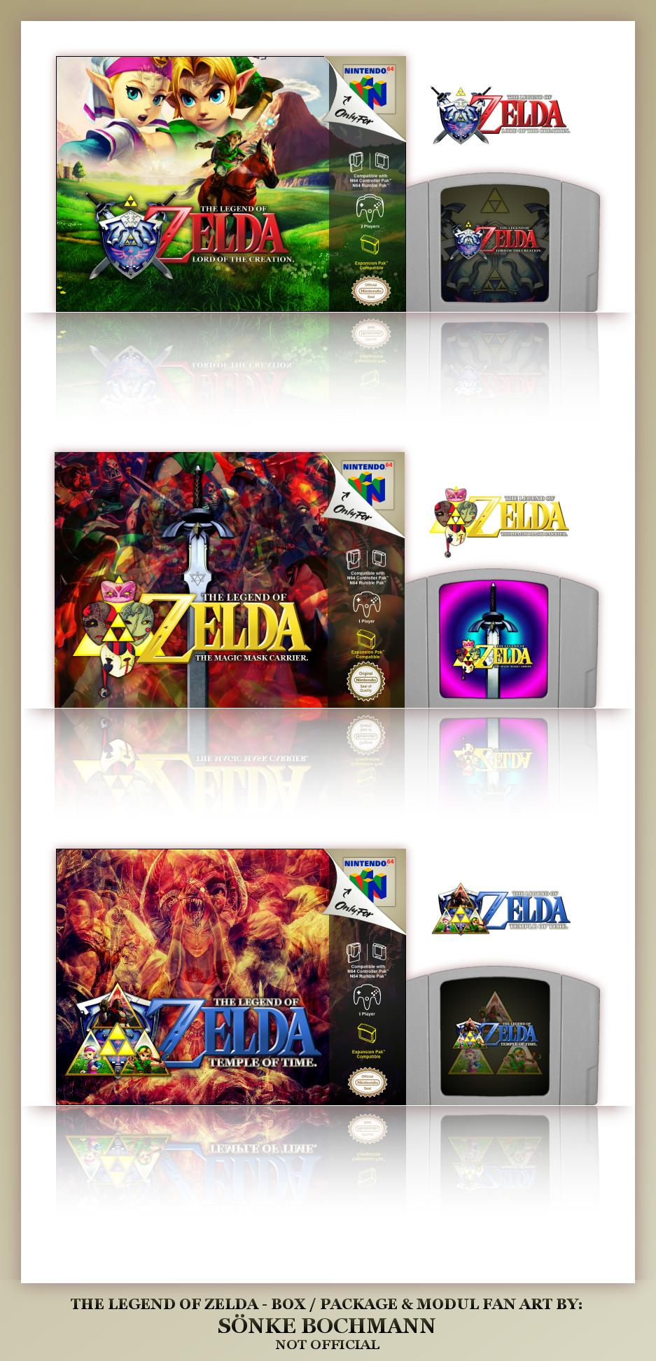THREE FANTASY ZELDA N64 GAMES by SoenkesAdventure