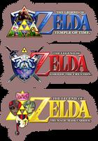 3 Selfmade Zelda Logos by SoenkesAdventure