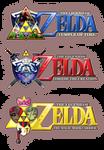 3 Selfmade Zelda Logos