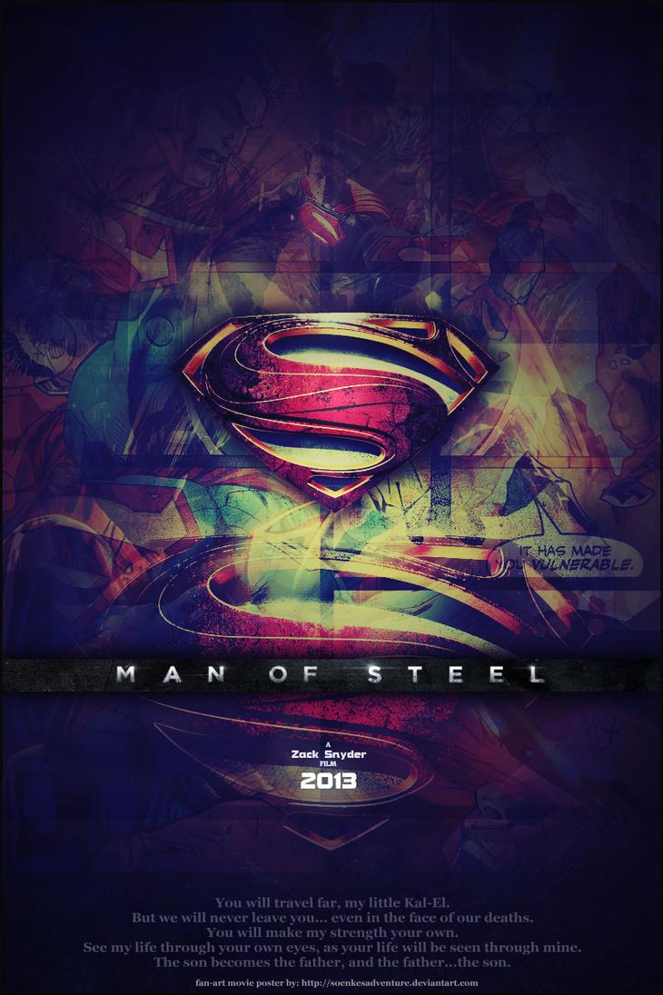 'Man of Steel' - Fan Art Movie Poster by SoenkesAdventure