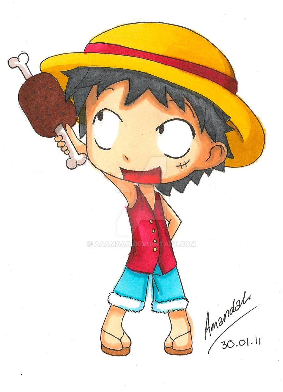 One Piece Chibi Luffy By Aaamaaa