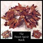 Forest Spirit Leather Mask