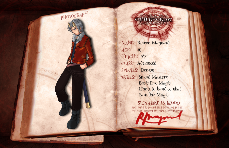 OW: Rowen Magnard 3rd Application by konrei-sama