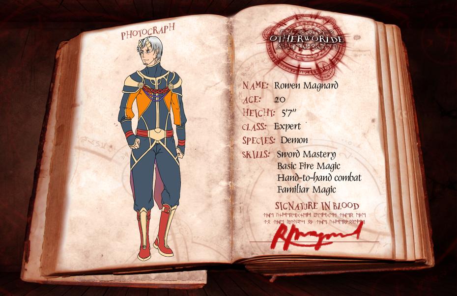 OW: Rowen Magnard 4th Application by konrei-sama