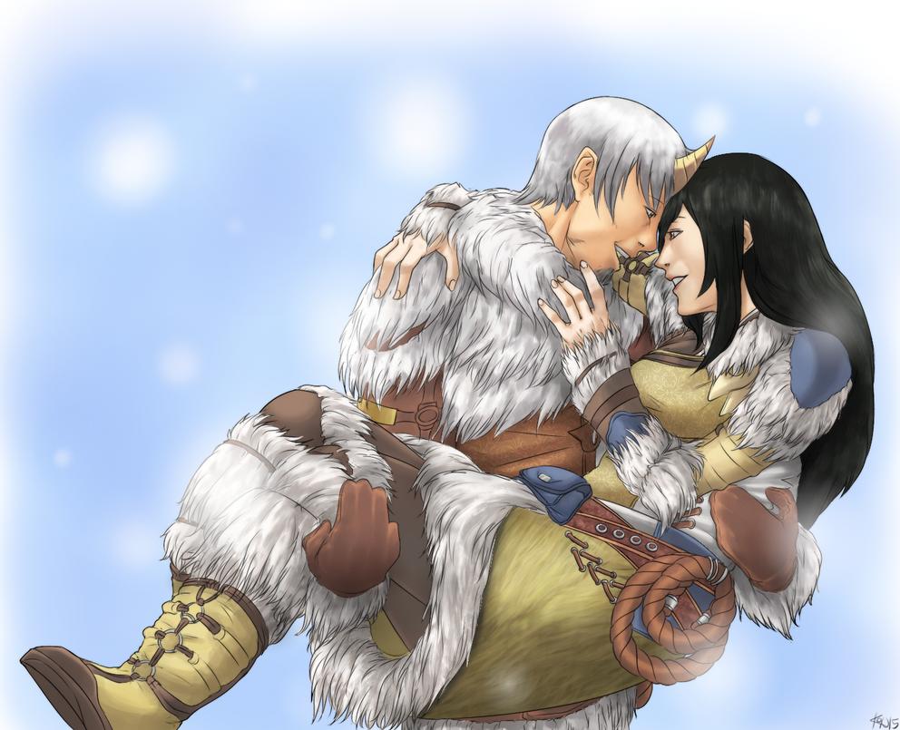 [OTPChallenge25] GW2 - Winter's kiss by konrei-sama