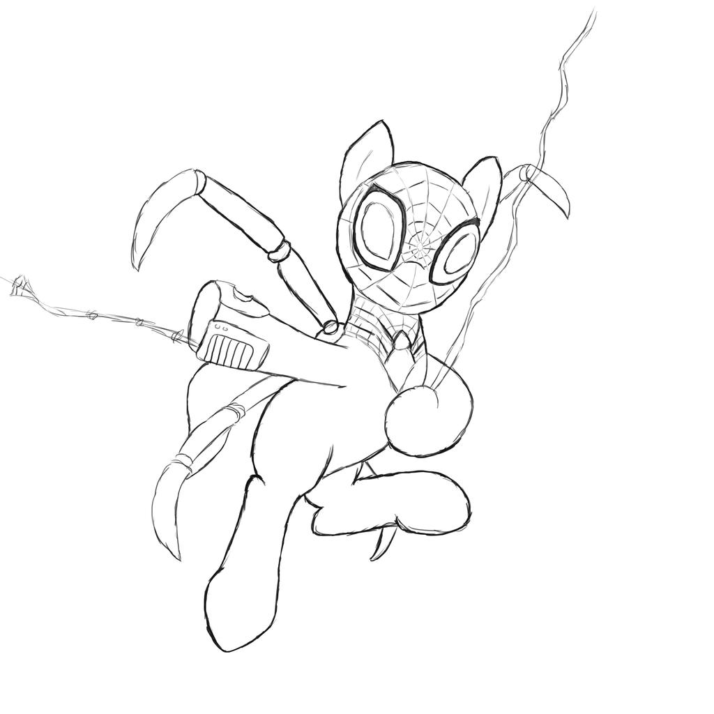 The Supirior Spidermare (line work) by HeavyEcho
