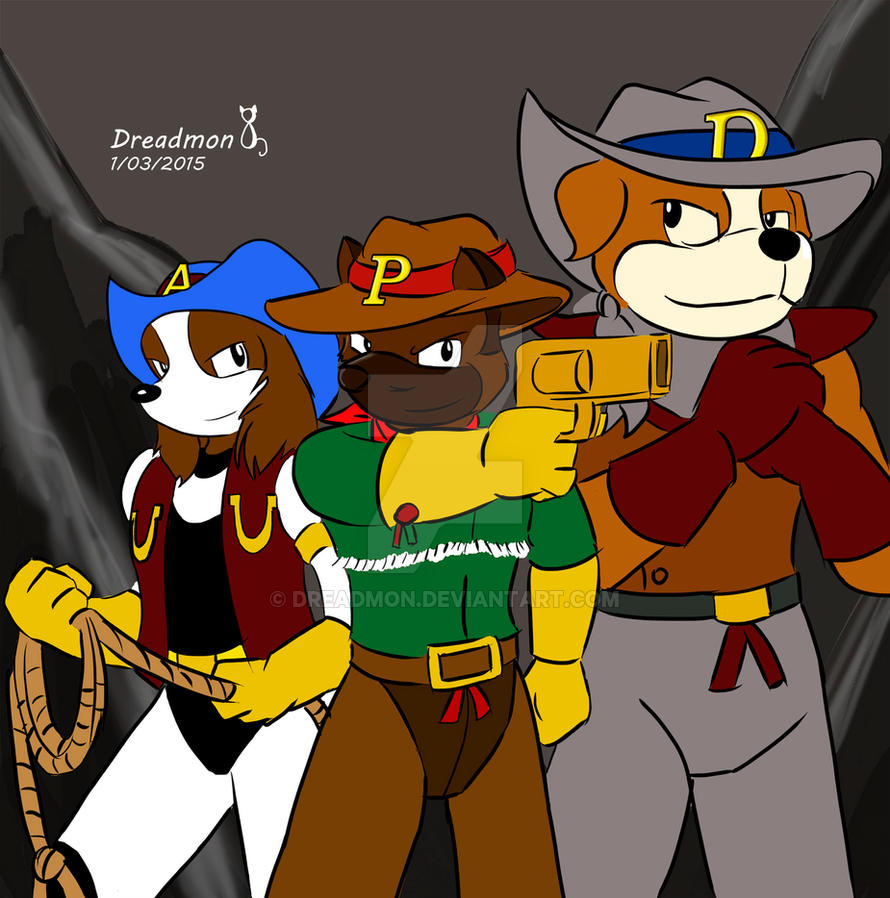 Three Cow Dogs by Dreadmon