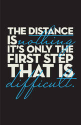 Distance poster.