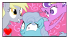 Derpy Hooves, Screwball, Screw Loose Stamp by GlassFeline