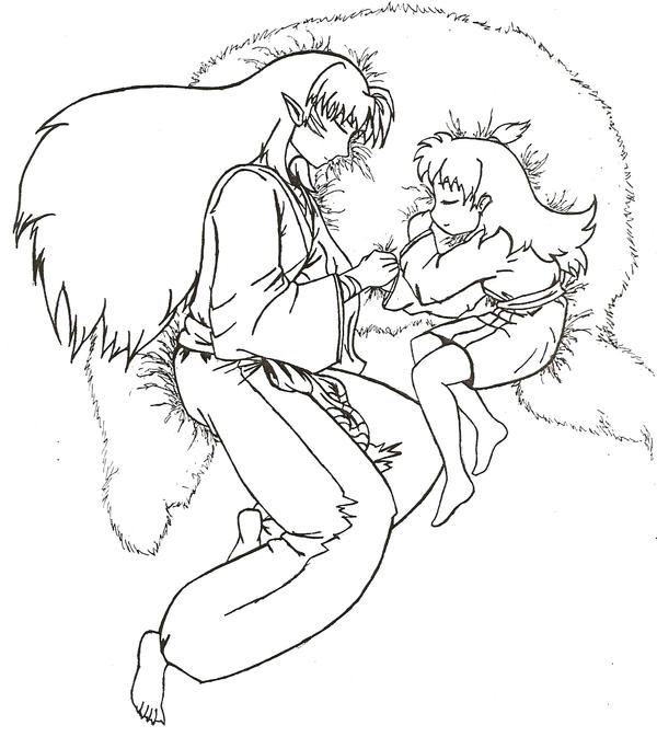 sesshoumaru coloring pages - photo#4