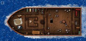 Mysteries of the Razor Sea: Boat Lower Deck