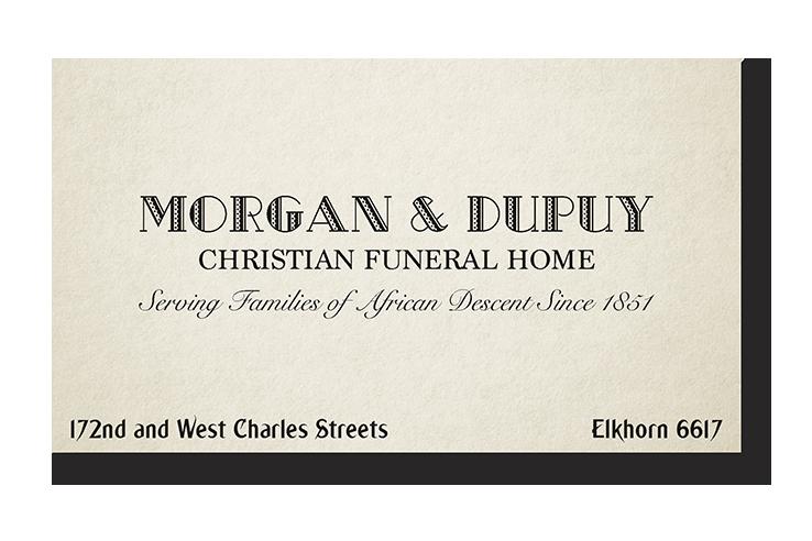 Dead Mans Stomp Business Card Front Funeral Home By MichaelArkAngel