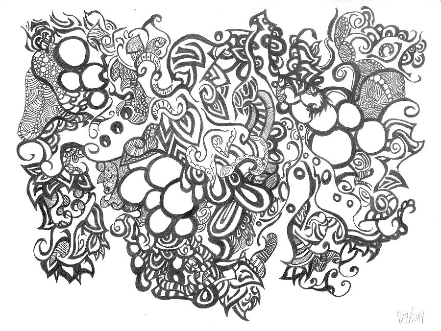 Zentangle Grape Cluster By TheEyeOfTheStorm On DeviantArt