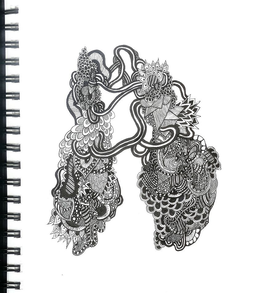 zentangle abstract lungs by theeyeofthestorm zentangle abstract lungs by theeyeofthestorm
