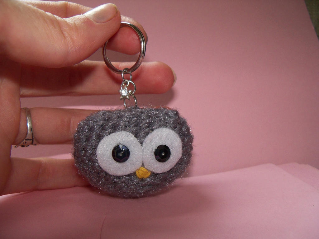 Crochet Night Owl Mini Keychain by ABAACreation on DeviantArt