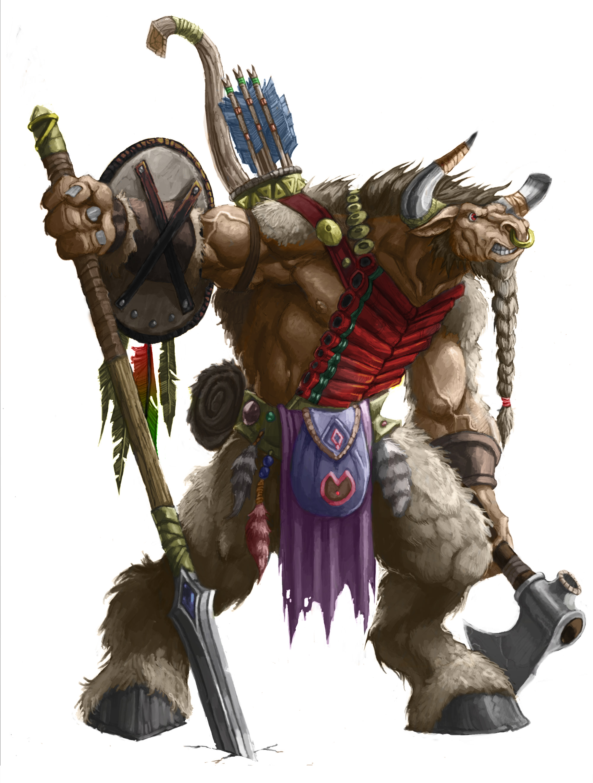 Warcraft tauren by mogthar on deviantart - Wow tauren wallpaper ...