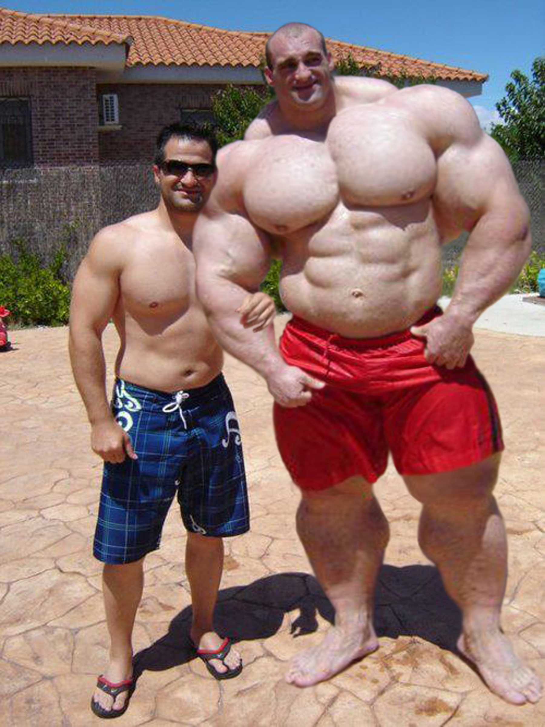 When your friend is a huge bodybuilder by Setpoirot on
