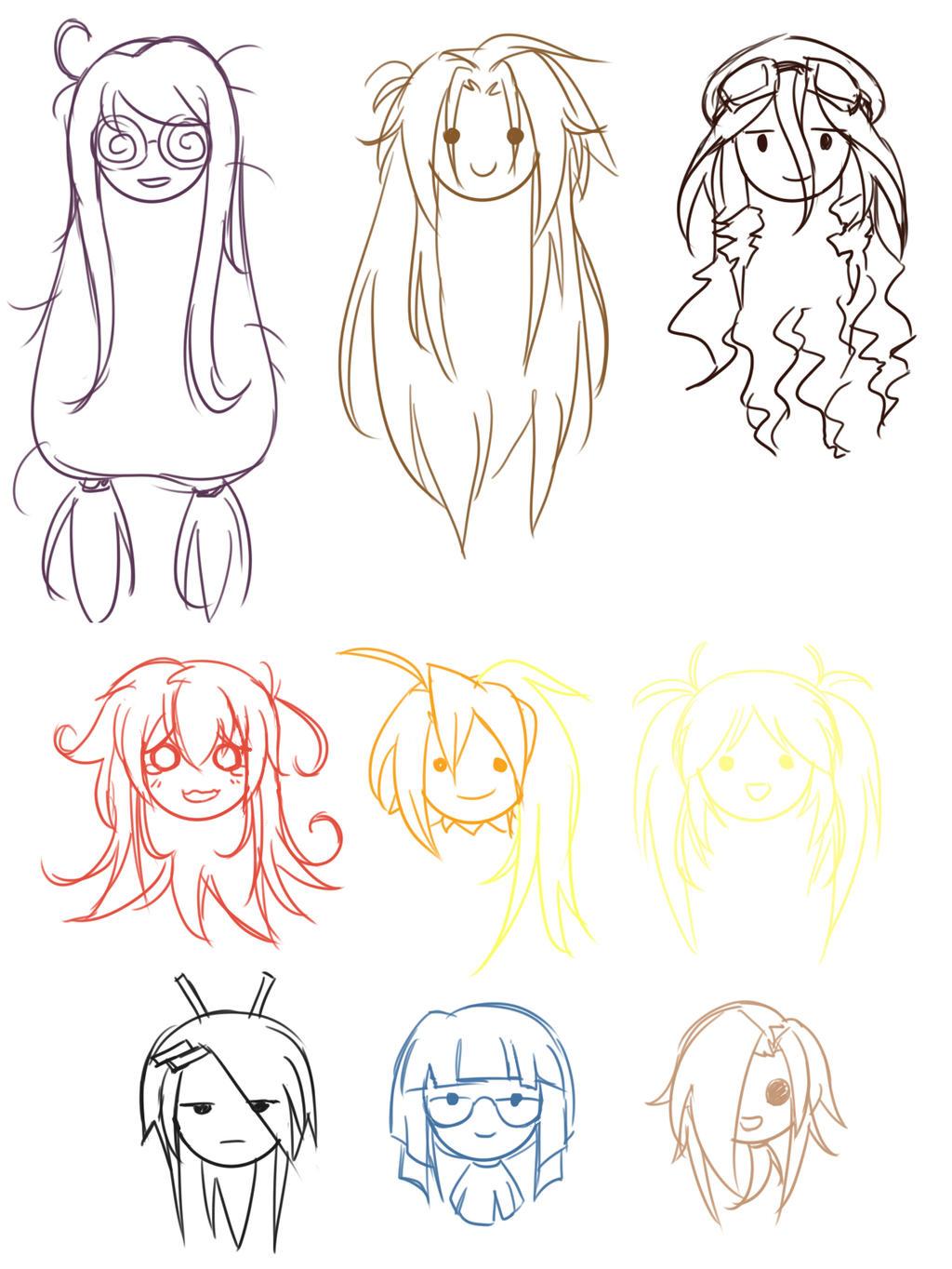 Как рисовать аниме карандашом для начинающих по схеме