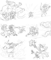 Dragon's Crown action shots by Matsu-sensei