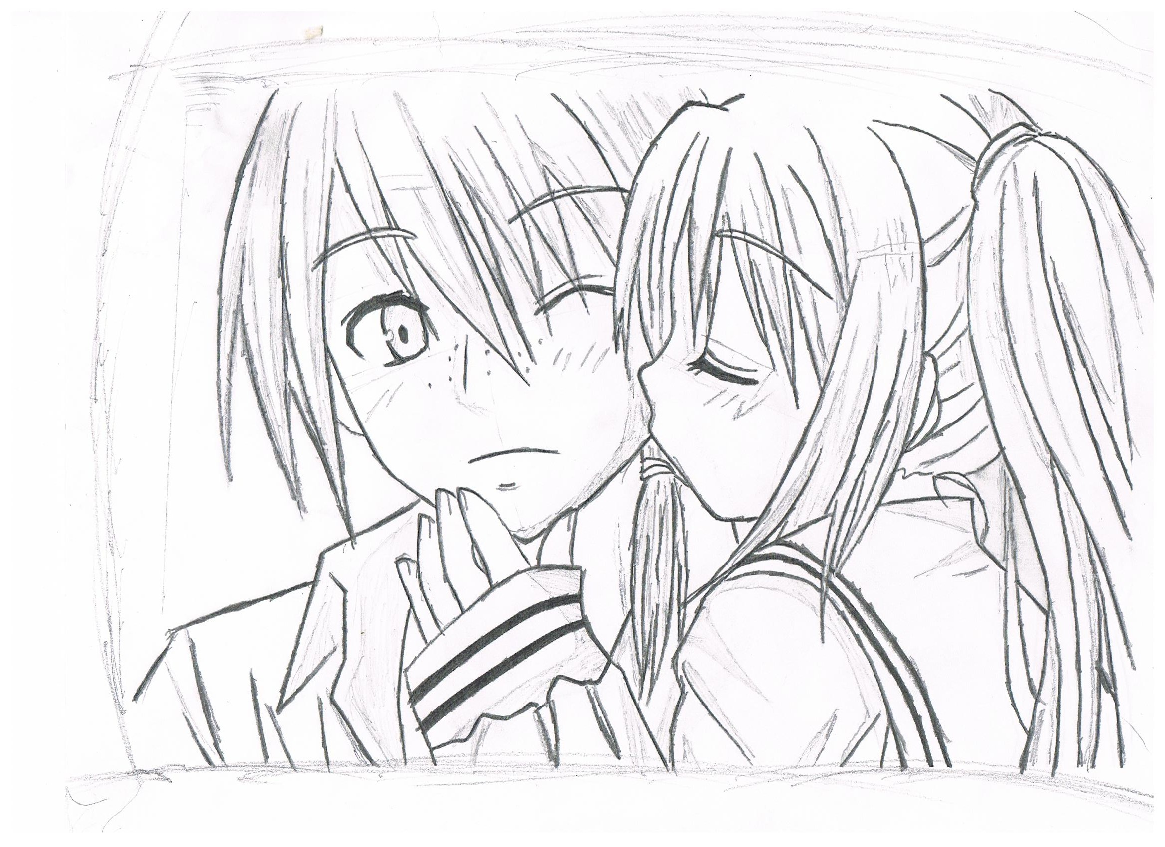 Boy And Girl Drawing By Sonic288 On Deviantart Boy And Anime Drawing
