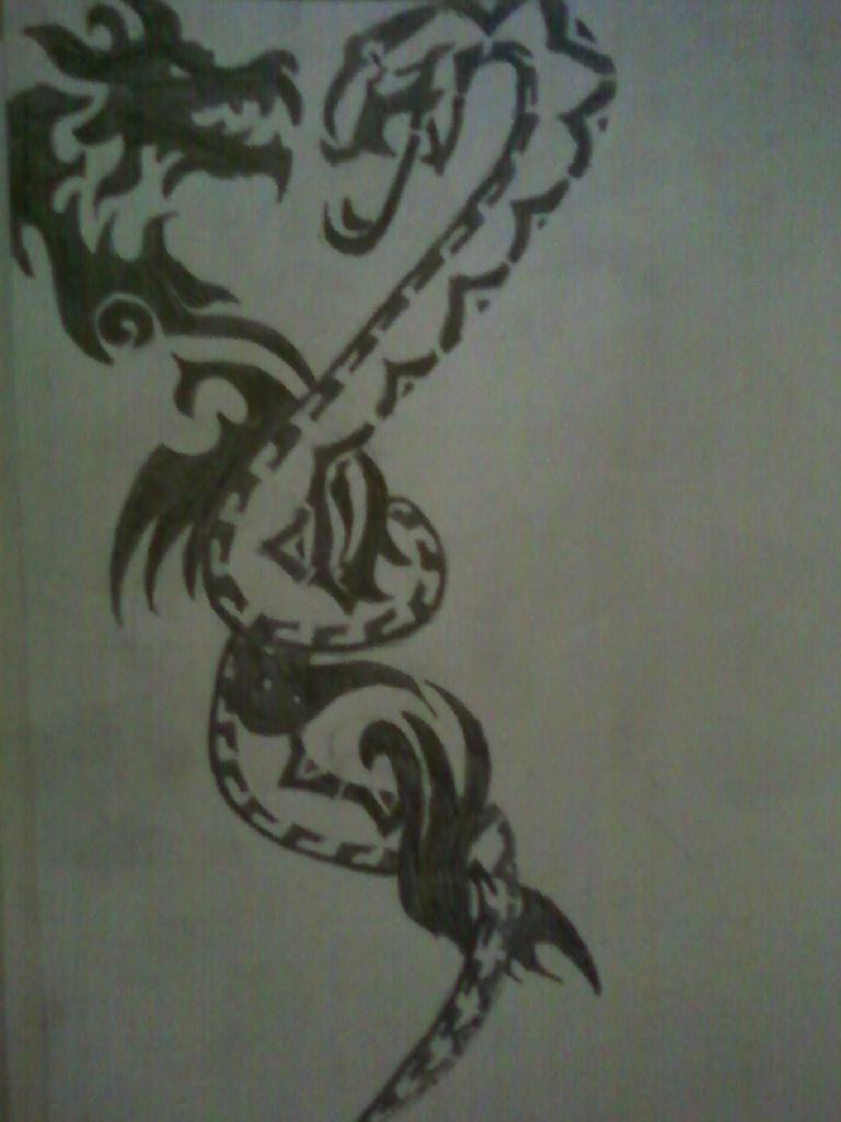 Tribal Dragon Snake Tattoo   Dragon Snake Tattoo