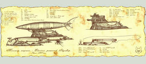 Mercury vapour Skyship by Wolfenion