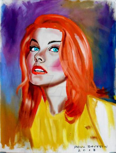 Ann Margret,oil by pauldavisonart