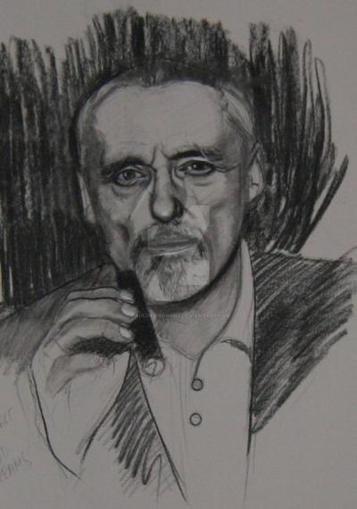 Dennis Hopper,charcoal by pauldavisonart