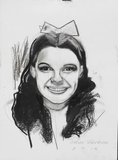Dorothy/ Wizard Of Oz,charcoal by pauldavisonart