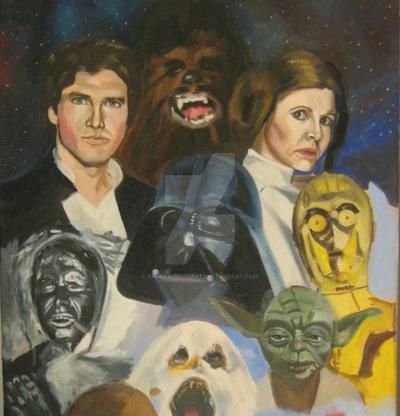 The Empire Strikes Back,oil in progress by pauldavisonart