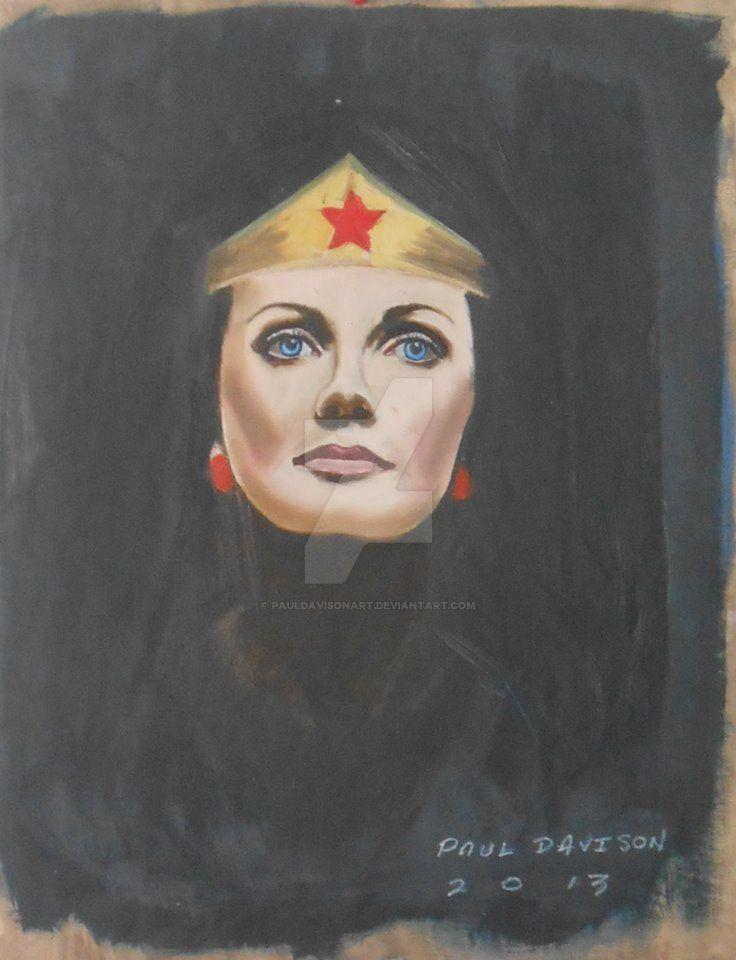 Lynda Carter,oil by pauldavisonart