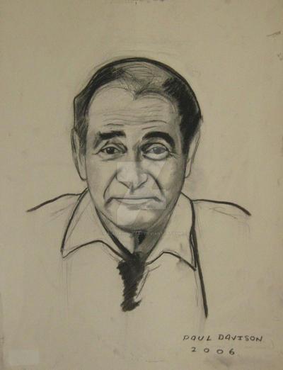 Darrin Mgavin,charcoal by pauldavisonart