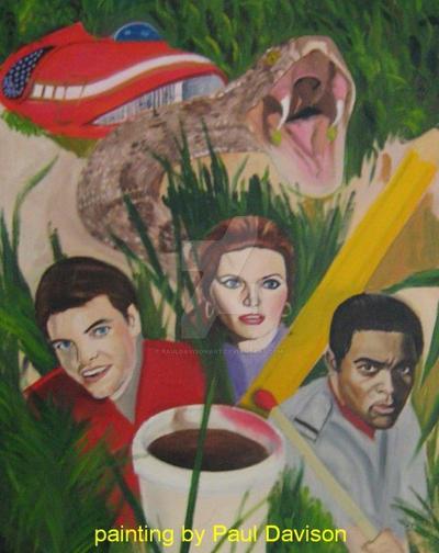 Land Of The Giants,oil by pauldavisonart