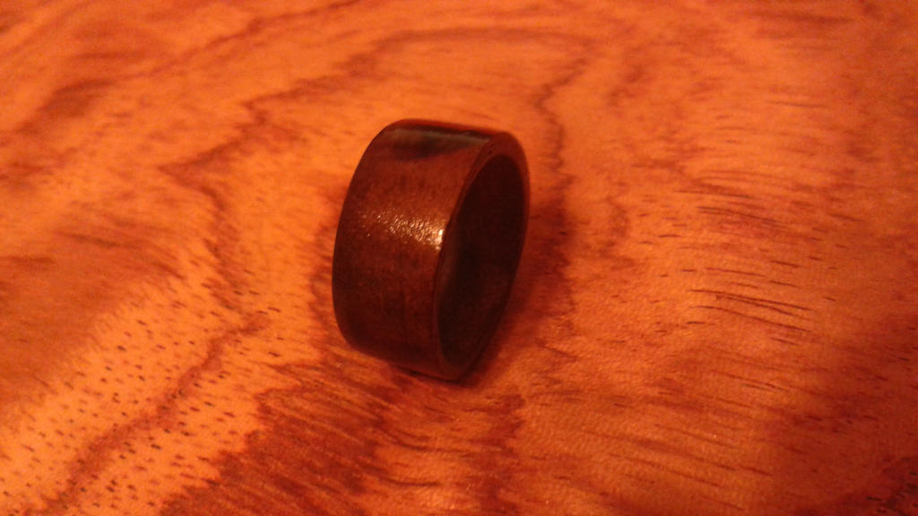 bentwood ring made from red gum wood by woodwireandstone