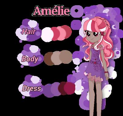 Amlie Ref Sheet by TreeGreen12