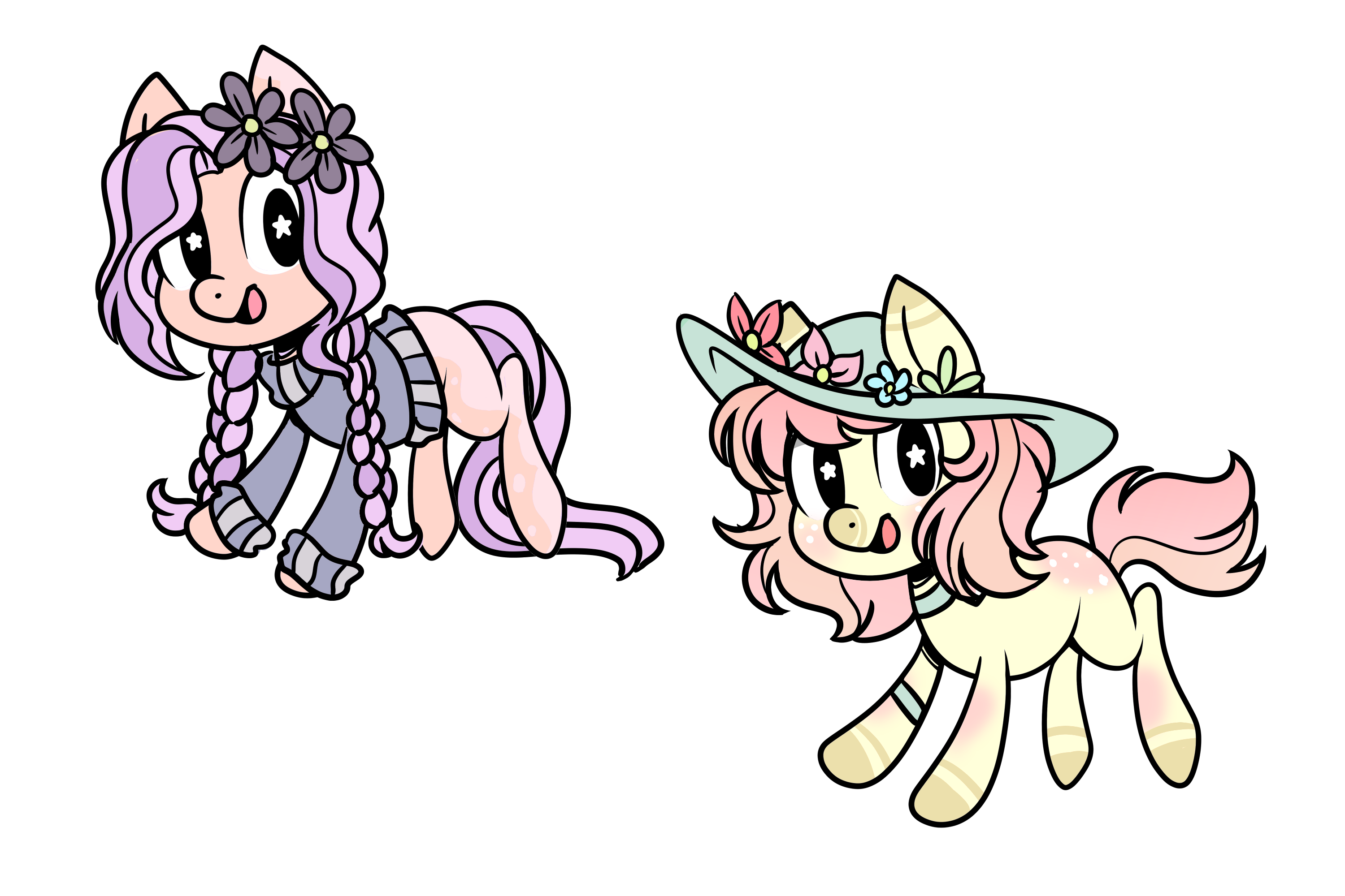 (MLP)-Flowers Pony Adoptables (1/2) OPEN (REUPLOAD by TreeGreen12