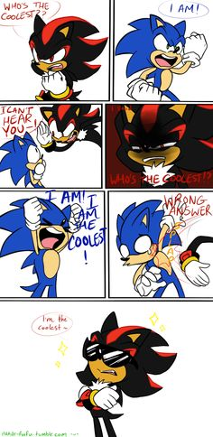 Sonic And Shadow Funny Comic By Shamy96 On Deviantart