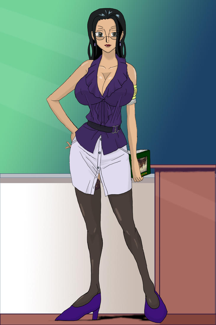 Nico Robin Teacher by SoraWolf7