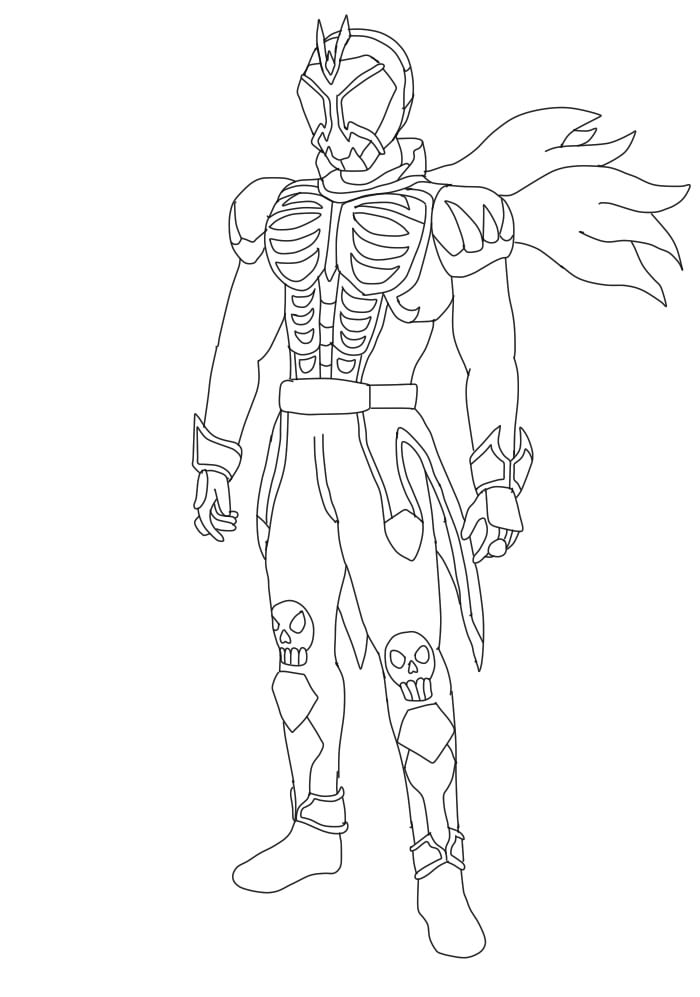 kamen rider coloring pages - photo#10
