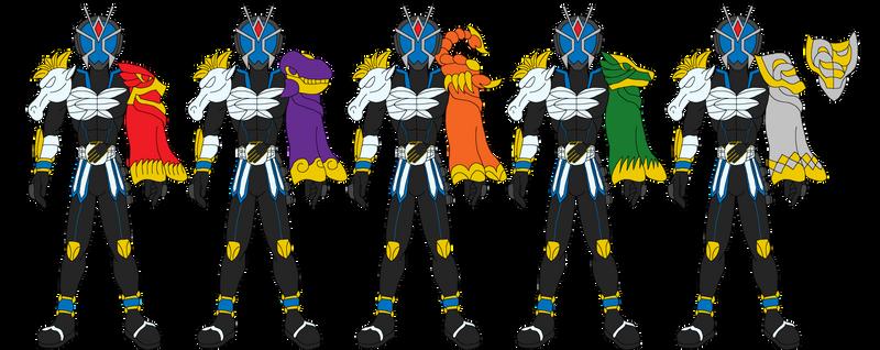 Kamen Rider Astral Mantles by SoraWolf7