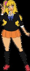 Satoko Gyaru Style by SoraWolf7